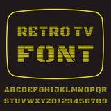 电视字体 库存图片