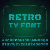 电视字体 图库摄影
