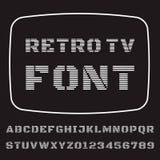 电视字体 库存例证