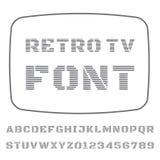 电视字体 免版税图库摄影