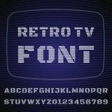 电视字体 库存照片