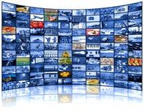 电视屏幕录影墙壁  免版税图库摄影