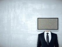电视屏幕朝向买卖人 免版税图库摄影