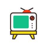 电视屏幕葡萄酒显示器模板电子设备技术数字线路艺术显示和录影减速火箭的概述家 皇族释放例证