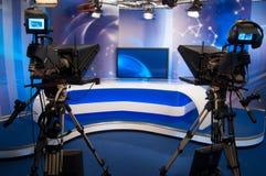 电视工作室 免版税库存图片