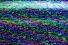 电视损伤,电视静止噪声 图库摄影
