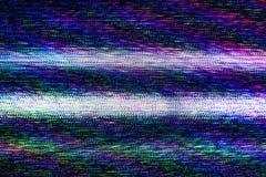 电视损伤,电视静止噪声 库存照片