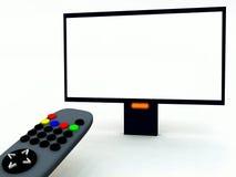 电视控制和电视24 免版税库存照片