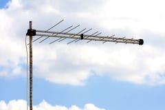电视数字式天线天空八木天线 库存图片