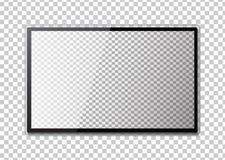 电视框架  倒空计算机或黑照片框架被带领的显示器  皇族释放例证