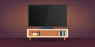 电视注意 传染媒介平的例证 向量例证