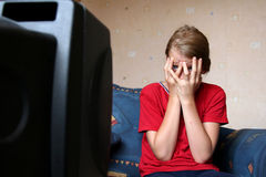 电视注意 免版税库存照片