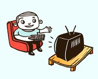 电视注意 库存例证