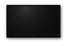 电视现代黑屏 库存照片