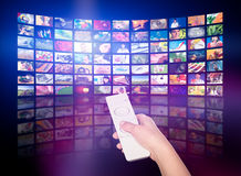 电视生产概念 电视电影盘区 库存图片
