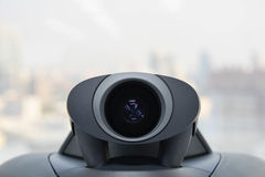 电视电话会议设备-照相机 库存图片