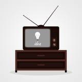 从电视的想法 库存图片