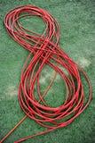 电视红色缆绳 库存照片