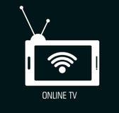电视网上设计 皇族释放例证
