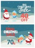电视节目预告海报圣诞老人雪未婚的圣诞节销售 免版税图库摄影
