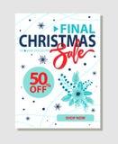 电视节目预告现在海报商店的最后的圣诞节销售50 图库摄影
