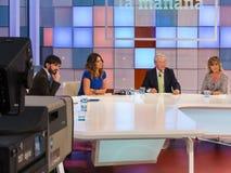 电视节目La mañana de la 1 免版税库存图片