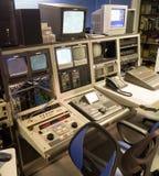 电视视频编辑控制台 图库摄影