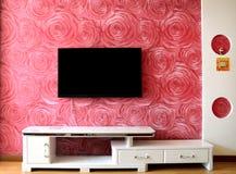 电视设置墙壁 免版税库存照片