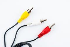 电视连接器- AV缆绳 免版税库存照片