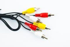 电视连接器- AV缆绳 库存图片