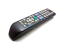 电视遥控在空白背景 免版税图库摄影