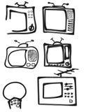 电视siluet 库存照片
