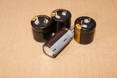 电解电容器 免版税库存图片