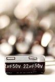 电解铝的电容器 免版税库存图片