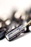电解铝的电容器 库存图片