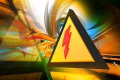 电警告 免版税库存图片