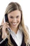 电话专业人员联系的年轻人 免版税库存图片