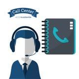 电话中心人协助目录联络 库存例证