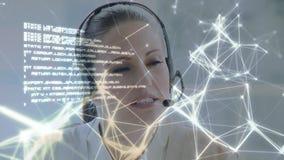 电话中心代理谈话与客户 股票录像