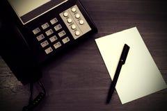 电话中心笔记 免版税库存图片