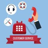 电话中心顾客服务 库存图片