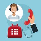 电话中心顾客服务 免版税库存图片