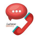 电话中心顾客服务 皇族释放例证