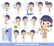 电话中心woman_complex 向量例证
