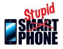 电话也许是聪明,但是人aren't 免版税库存照片