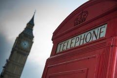 电话亭在伦敦 库存照片