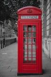 电话亭在伦敦 免版税库存图片