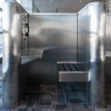 电话亭在机场 库存照片