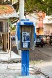 电话亭在Kota manado城市 免版税库存照片