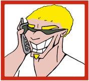 电话人 库存照片